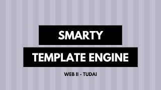 04 - Template Engine - Smarty