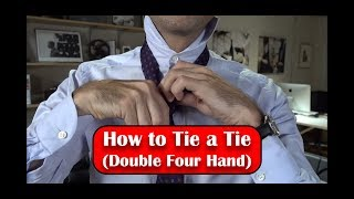 HOW TO TIE A TIE  (Double Four Hand) HD 1080p
