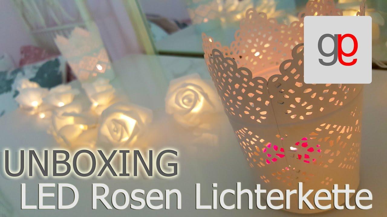 unboxing led rosen lichterkette youtube. Black Bedroom Furniture Sets. Home Design Ideas