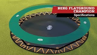 BERG FlatGround Champion trampoline | specifications