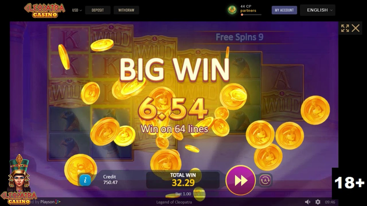 First Spin Free Spins Legend Of Cleopatra Slots Youtube