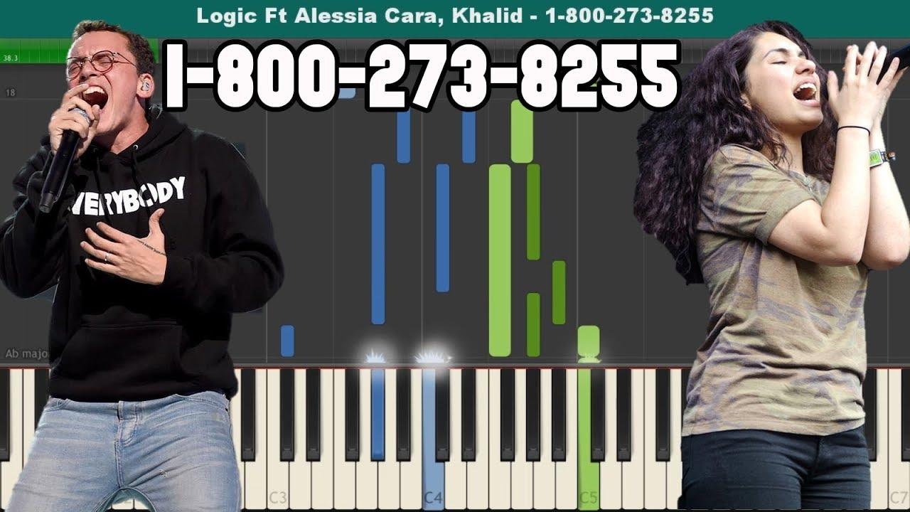 1 800 273 8255 Piano Tutorial Free Sheet Music Logic Ft Alessia Cara Piano Tutorials Free Sheet Music Piano Tutorial
