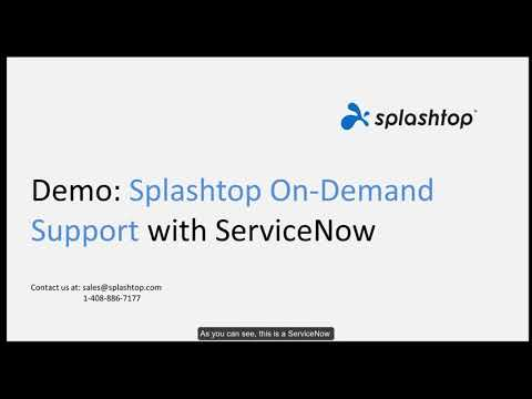 Splashtop SOS avec ServiceNow