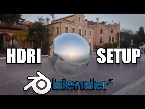 Blender 2.8 How To Setup An Hdri Environment Background