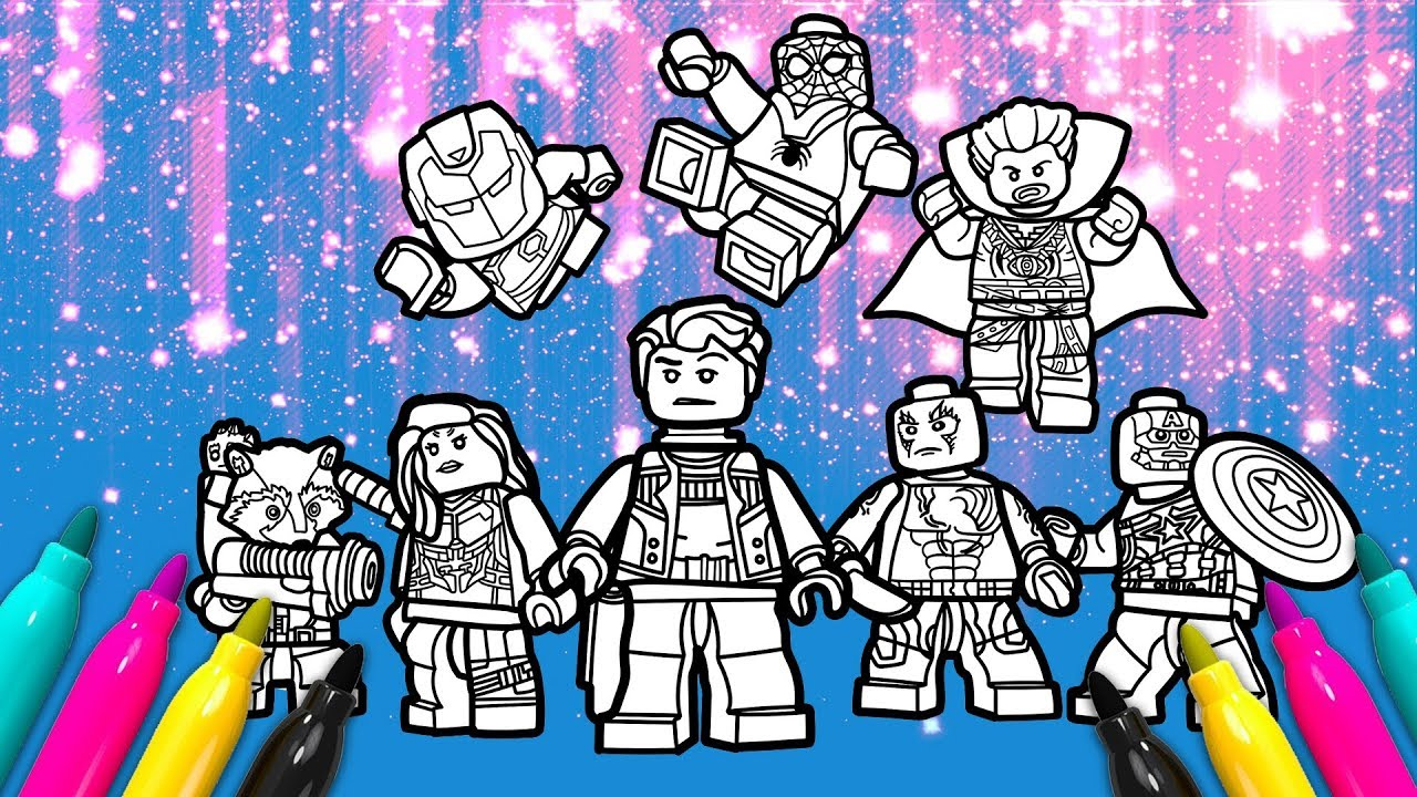 LEGO Avengers Team Coloring Page | Marvel Superheroes 2 Coloring ...