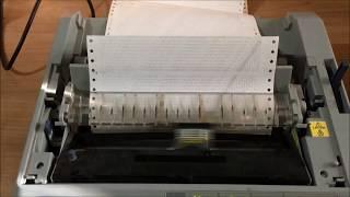 How to print a self test on an Epson FX 890 dot matrix printer