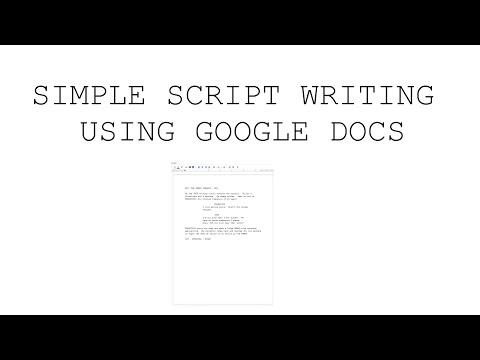 Script Formatting in Google Docs - Short and Simple - 2019