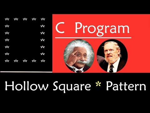 C Program to Print Hollow Square Star Pattern | Working Example