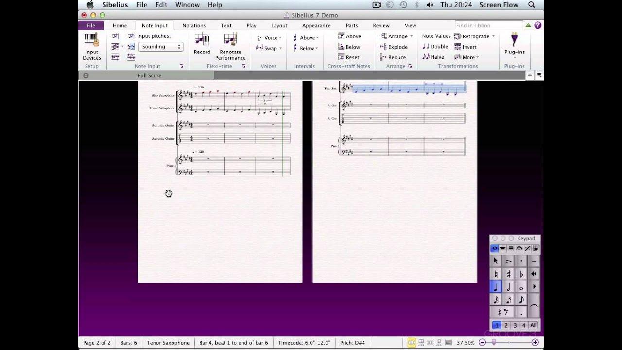 The Note Input Tab Pt 1 Sibelius 7 Explained Youtube