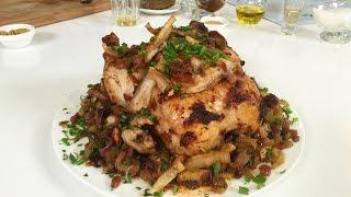 Готовим курицу в кисло сладком соусе и тушеную капусту по рецептам Джейми Оливера