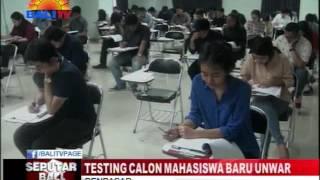 TESTING CALON MAHASISWA BARU UNWAR