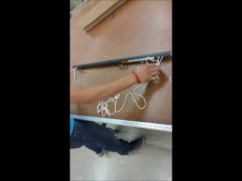 Change the cord side on a Kirsch traverse rod