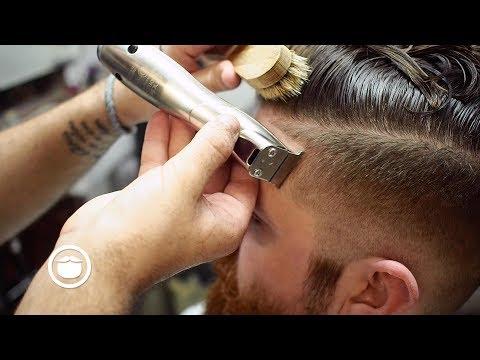 Undercut with Sharp Edges & Beard Trim
