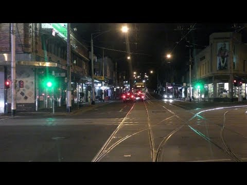 (4K) NEW ROUTE 75 - Melbourne Tram Drivers View - Route 75 Docklands To Vermont South Night