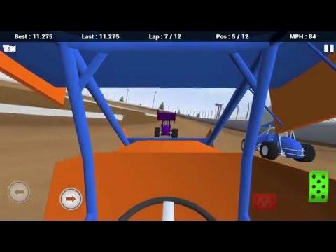 Dirt Racing Mobile 3D - Full Race 2 - 410 Sprint Car Winged