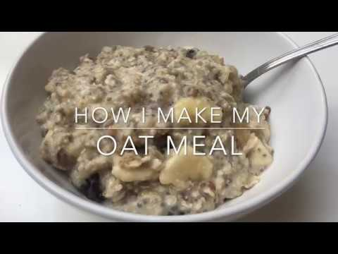 How I make my oat meal for breakfast. Sugar and milk free.