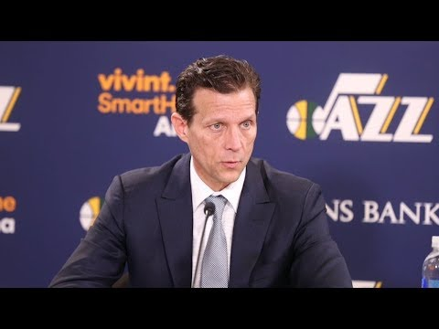 Quin Snyder Postgame Interview / Jazz vs Timberwolves