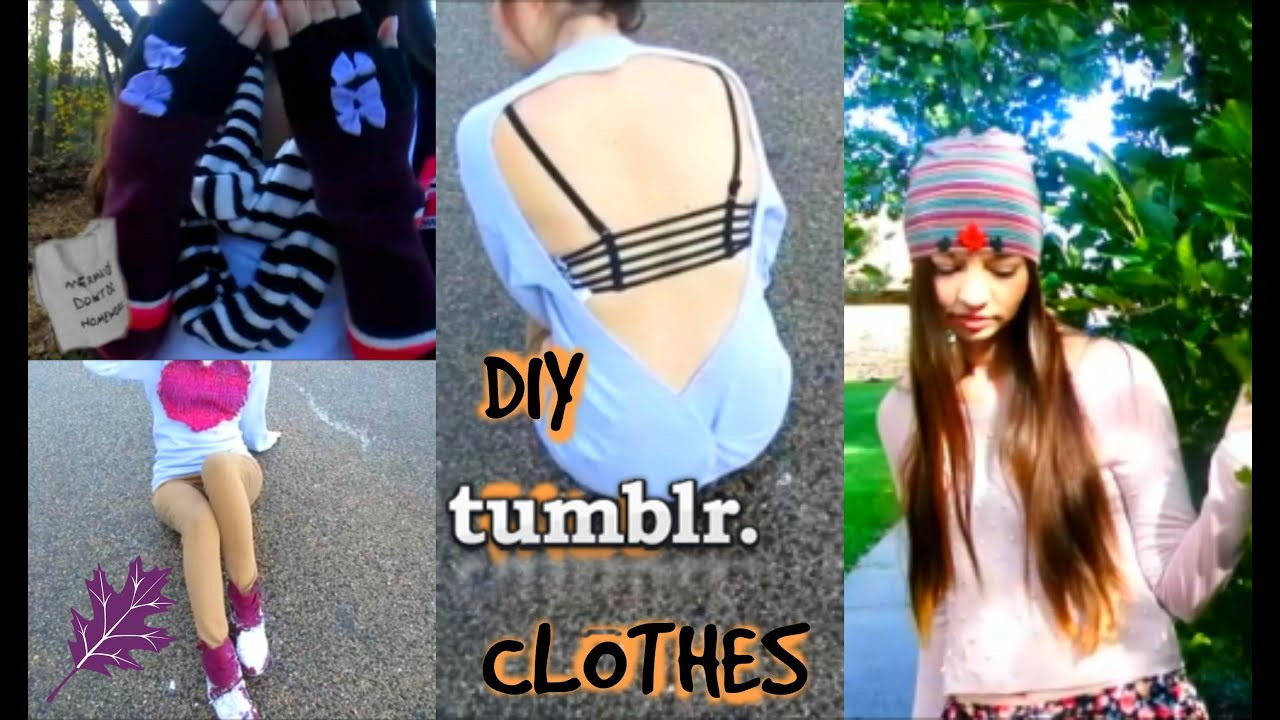 Cute & Easy DIY Fall Clothes Inspired by Tumblr! - YouTube