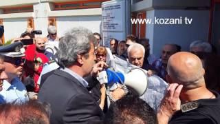 Αποδοκιμασίες από μέλη της Πρωτοβουλίας Πολιτών Εορδαίας στην υποδοχή του Π. Πολάκη