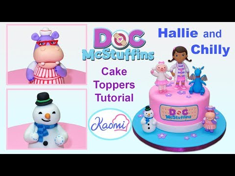 How to make Hallie and Chilly (Cake Toppers) / Cómo hacer a Hally y Friolín para tortas