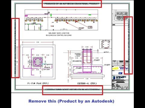 Remove educational plot stamp Produced by an Autodesk Educational