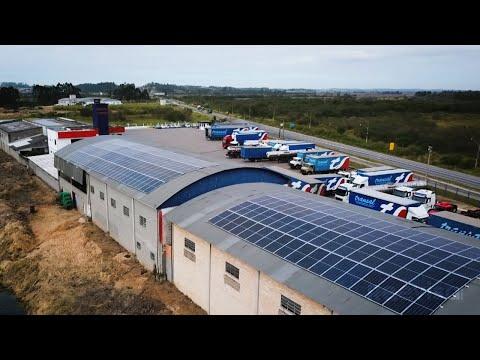 Transal Transportes - Sistema de Energia Solar em Funcionamento