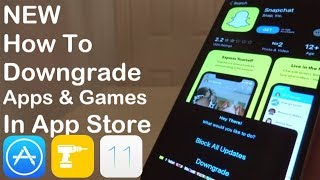 NEW How To Downgrade Apps & Games In App Store iOS 12 - 12.2 / 12.4 11 iPhone iPad iPod Touch