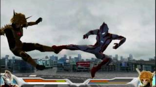 Ultraman Mebius in the psp game known as Ultraman Fighting Evolutio...