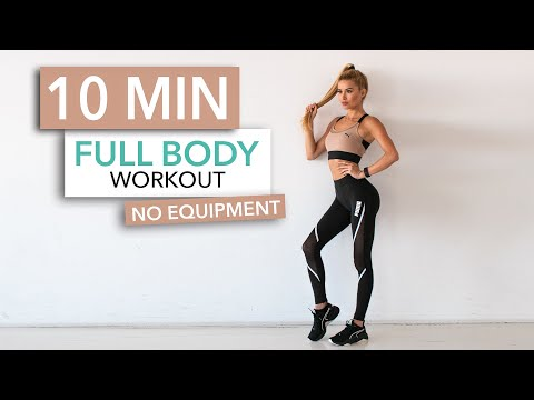 10 MIN FULL BODY WORKOUT // No Equipment | Pamela Reif