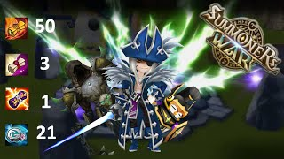 Summoners War - 13 Lightnings! Legendary Scroll Summoning -  sw rng