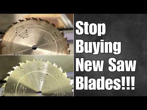 STOP BUYING NEW SAW BLADES!!! How To Clean a Saw Blade—How To Stop Table Saw Blade From Burning
