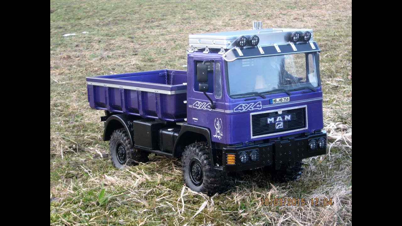 rc truck  erste testfahrt mit  man  im