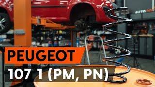 Hoe een spiraalveer vooraan vervangen op een PEUGEOT 107 1 (PM, PN) [AUTODOC-TUTORIAL]