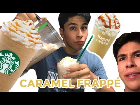 How To Make A Caramel Frappe! (Like Starbucks And McDonald's)