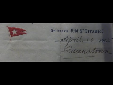 Titanic - The letter 1912