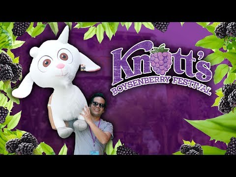 BIG carnival games wins, giveaway and more at Knott's Boysenberry Festival!