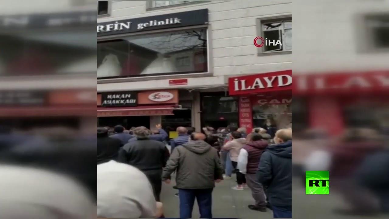 اسطنبول .. امرأة ترمي أطفالها من النافذة أثناء الحريق  - 14:58-2021 / 2 / 26