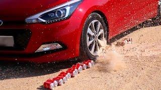 Kolaların Üstünden Arabayla Geçtim / Slow Motion Video / Ağır Çekim