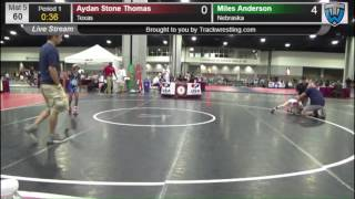 2284 Novice 60 Aydan Stone Thomas Texas vs Miles Anderson Nebraska 8572879104