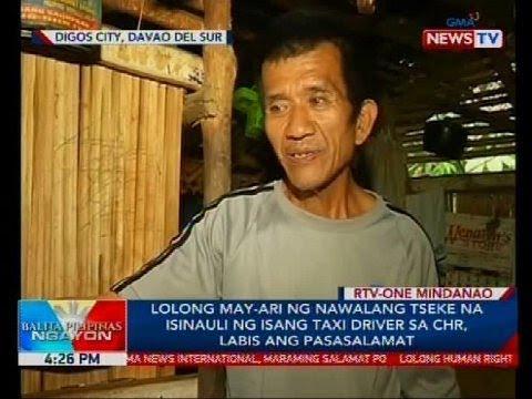 Lolong may-ari ng nawalang tseke na isinauli ng isang taxi driver sa CHR, labis ang pasasalamat