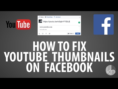 How To Fix YouTube Thumbnails On Facebook!