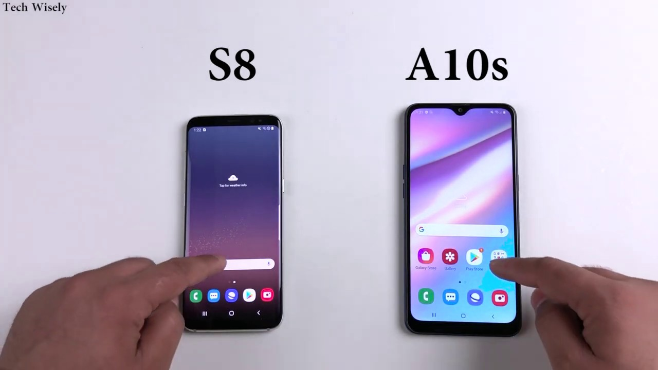 Samsung A10s Vs S8 Speed Test Comparison Youtube