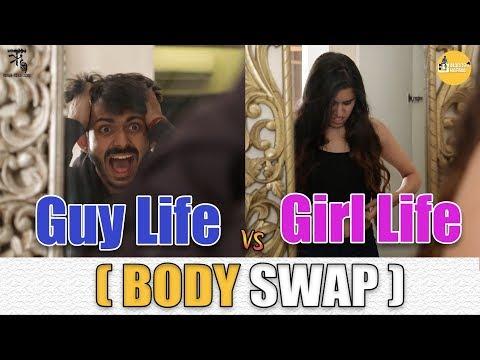 Guy's Life Vs Girl's Life (Body Swap) || SwaggerSharma