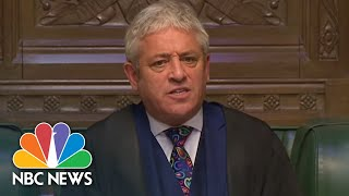 Order! Speaker John Bercow Steps Down After 10 Years Of Trying To Control U.K. Lawmakers | NBC News