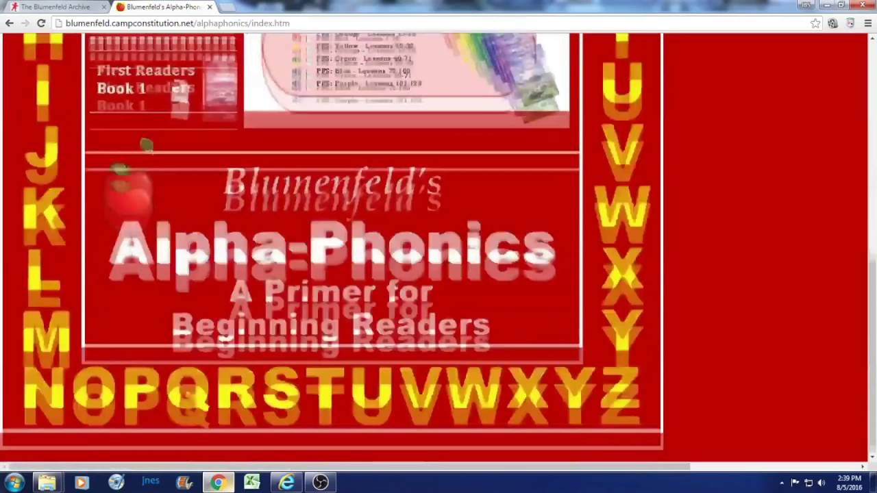 Blumenfeld's Alpha Phonics Online Easy To Use Interface - YouTube