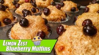 High Protein Lemon Zest Blueberry Muffins With Kara Corey!