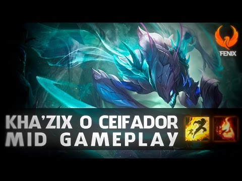 "League of Legends - KHAZIX MID GAMEPLAY - ""Q"" ROUBADO NO PATCH 6.6 [PT-BR]"