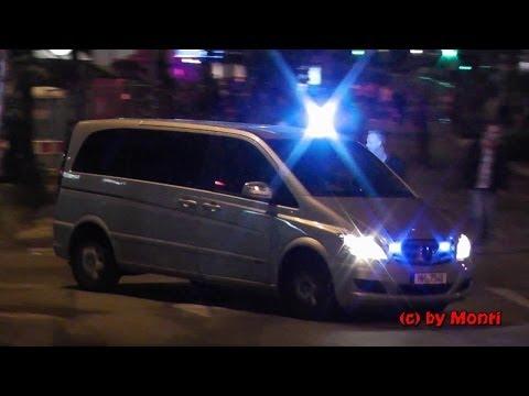 Viel Blaulicht im Rotlicht...! (17 Minuten Einsatzfahrten Hamburg Reeperbahn) (HD)