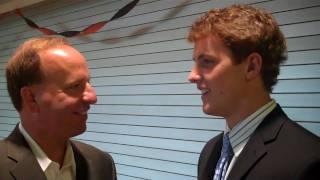 Chris Botta with Cam Fowler