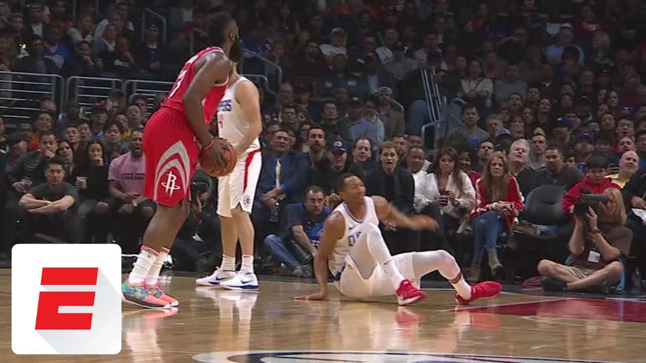 3d8420233 All the best reactions to James Harden s nasty cross of Wesley Johnson